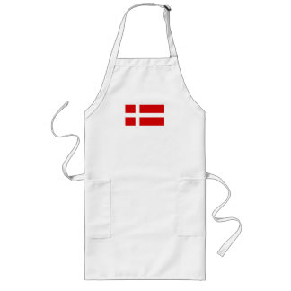 デンマークの旗 ロングエプロン