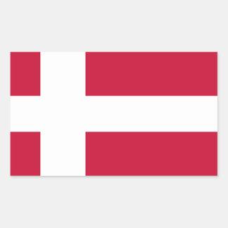 デンマークの旗 長方形シール