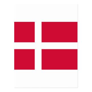 デンマークの旗DK ポストカード