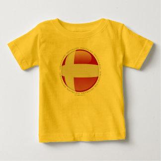 デンマークの泡旗 ベビーTシャツ