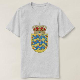 デンマークの紋章付き外衣 Tシャツ