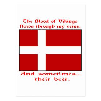 デンマークの血及びビールバイキング ポストカード