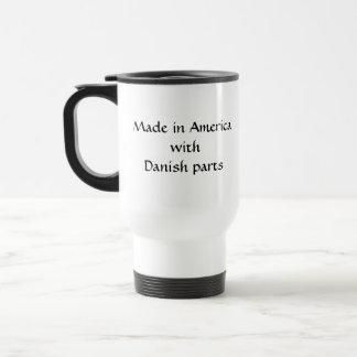 デンマークの部品が付いているアメリカで作られる トラベルマグ
