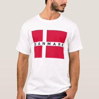 デンマークのdanmarkの旗の国のデンマークの文字の名前 tシャツ