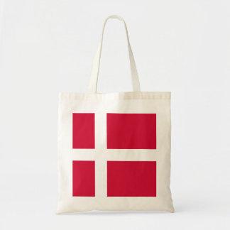 デンマークまたはデンマークの布の旗 トートバッグ