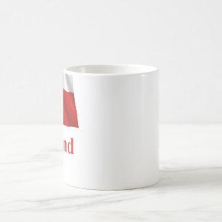 デンマーク語の名前のグリーンランドの振る旗 コーヒーマグカップ
