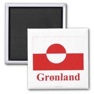 デンマーク語の名前のグリーンランドの旗 マグネット