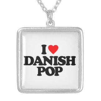 デンマーク語の破裂音 シルバープレートネックレス
