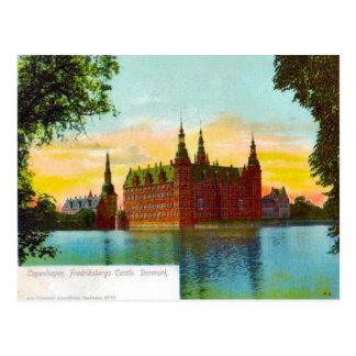 デンマーク、コペンハーゲンFriedfricsbergの城1912年 ポストカード
