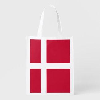 デンマーク-スカンジナビアの十字の旗 エコバッグ