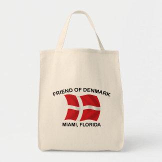 デンマーク-マイアミの友人 トートバッグ