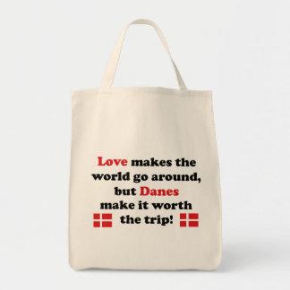 デンマーク-愛は作ります トートバッグ