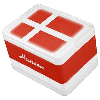 デンマーク、Dannebrogの旗! あなたの名前を加えて下さい! Igloo クーラーボックス