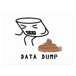 データダンプ ポストカード