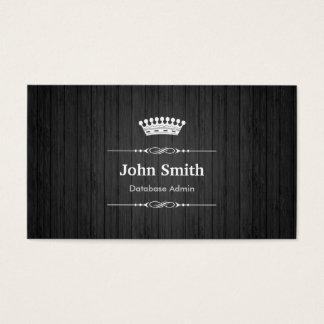データベースAdminの王室ので黒い木製の穀物 名刺