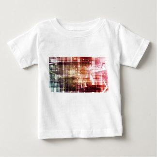 データ網の移動の芸術のデジタルイメージ ベビーTシャツ