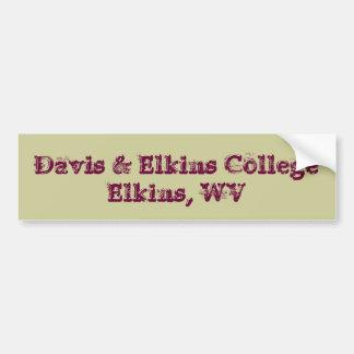 デービスおよびElkinsの大学 バンパーステッカー