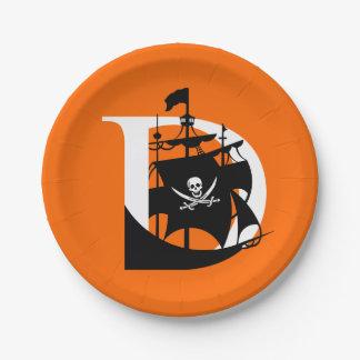 デービスは7インチの紙皿-オレンジ--を略奪します ペーパープレート