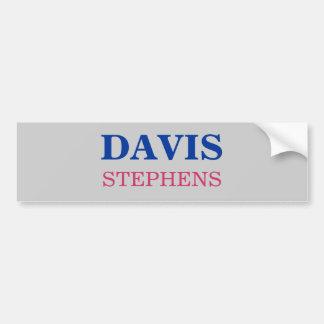 デービス、STEPHENS バンパーステッカー