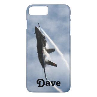 デーブのためのF/A-18戦闘機の飛行機のエア・ショー iPhone 8 PLUS/7 PLUSケース