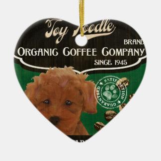 トイプードルのブランド- Organic Coffee Company セラミックオーナメント