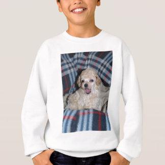 トイプードルの子犬の話すこと スウェットシャツ