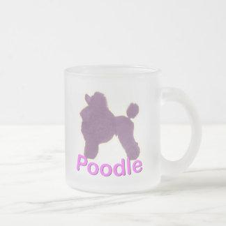 トイプードルの揺りかご紫色/ピンク曇らされたガラスのマグ フロストグラスマグカップ