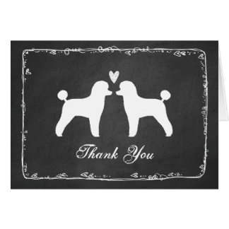 トイプードルの結婚は感謝していしています カード
