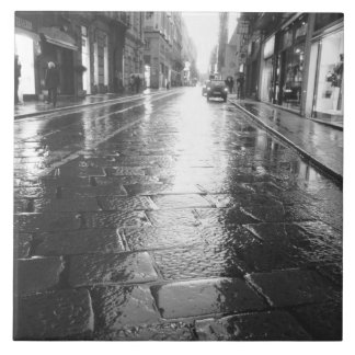 トゥーリンイタリア、ぬれた通りの夕べ タイル