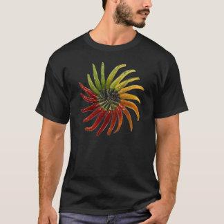 トウガラシの円のワイシャツ Tシャツ