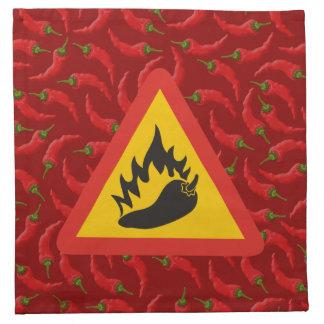 トウガラシの危険の印 ナプキンクロス