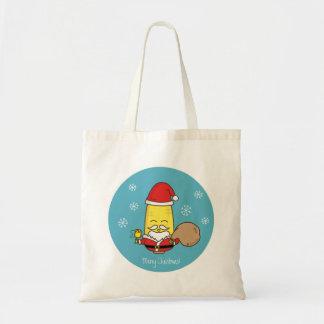 トウモロコシのサンタクロースのメリークリスマス トートバッグ