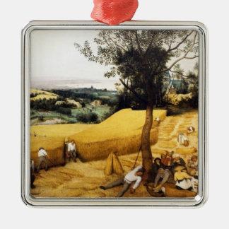 トウモロコシの収穫- 1565年 メタルオーナメント