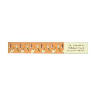 トウモロコシの皮: 黄橙色の差出人住所ラベル ラップアラウンド宛名ラベル