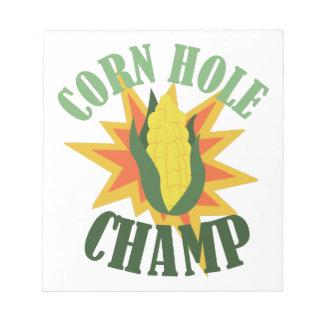 トウモロコシの穴のチャンピオン ノートパッド