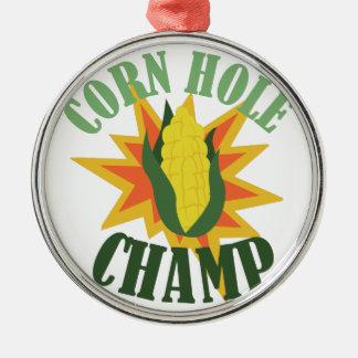 トウモロコシの穴のチャンピオン メタルオーナメント