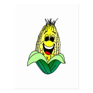 トウモロコシの顔 ポストカード