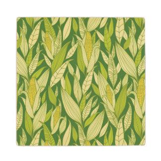 トウモロコシ植物パターン背景 ウッドコースター
