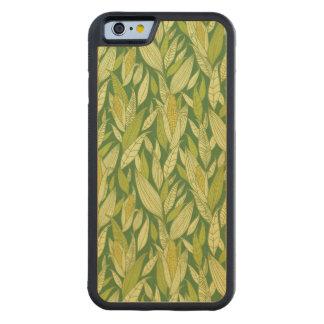トウモロコシ植物パターン背景 CarvedメープルiPhone 6バンパーケース