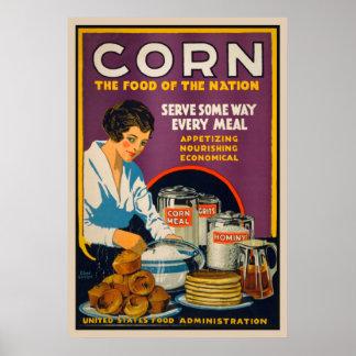 トウモロコシ-国家のヴィンテージポスターの食糧 ポスター