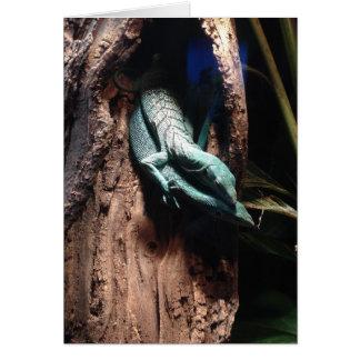 トカゲの抱擁挨拶状 カード