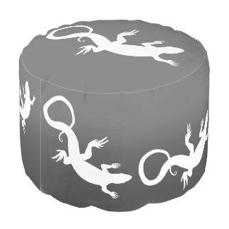 トカゲのPoufのオットマンのハ虫類/トカゲの芸術の枕 プーフ