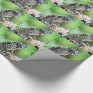 トカゲ(ブラウンAnole) (6891)の-包装紙 ラッピングペーパー