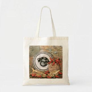 トカゲ、chilisが付いているエレガントな南西デザインのバッグ トートバッグ