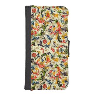 トスカナ式のつる植物のiPhone 5/5Sのウォレットケース iPhoneSE/5/5sウォレットケース