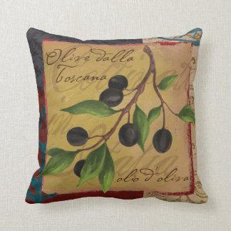 トスカナ式のオリーブの枕 クッション