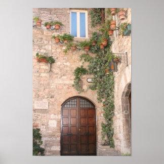 トスカナ式のドア ポスター