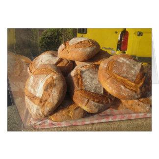 トスカナ式のパンの空白のなカード カード