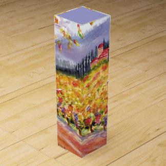 トスカナ式のブドウ園のワイン用化粧箱 ワインギフトボックス