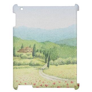 トスカナ式のブドウ園、パステル調のiPadの箱のイタリア iPad カバー